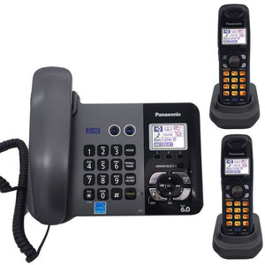 DECT 6.0 Two Land Line Telephones Cordless Phone With Answering System Call ID Redial Voice Mail Landline Phone For Home Office