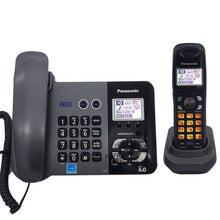 Load image into Gallery viewer, DECT 6.0 Two Land Line Telephones Cordless Phone With Answering System Call ID Redial Voice Mail Landline Phone For Home Office