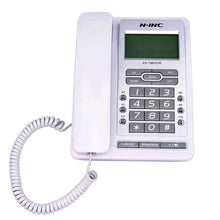 Load image into Gallery viewer, DTMF/FSK Green Screen Landline Telephone Without Battery Dual Interface Fixed Phone Call ID Handsfree For Home Office Hotel