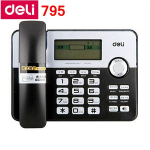 Deli 795 seat type telephone set corded telephone Horizontal type family numbers memory office home telephone  set Pregnant