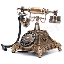 Load image into Gallery viewer, European Fashion Vintage Telephone Swivel Plate Rotary Dial Telephone Antique Telephones Landline Phone For Office Home Hotel