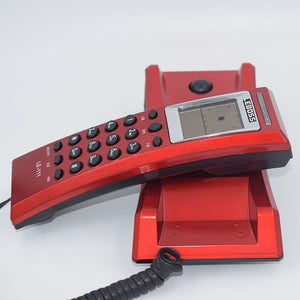 Hotel Bathroom Home Desktop Telephone Call ID Small Bedside Wall Extension Battery Landline Phone Telefonos De Casa Black Red