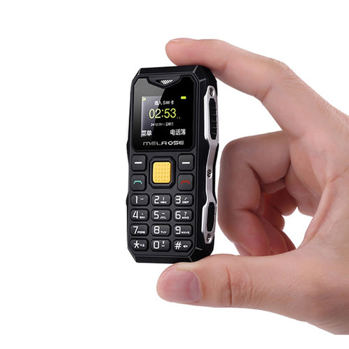Melrose Mini Military Pocket Bar Telephone Long Standby Big Voice Flashlight FM Single Sim Smallest Size Spare Mobile Phone P105