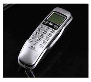 Mini Wall Fixed Telephone Call ID Redial DEL Hotel Bathroom Home Business Office Telephone Landline Phones Small Home Sliver