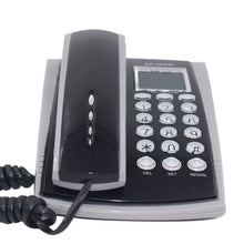Load image into Gallery viewer, Portable Corded Telephone Phone Redial Call ID Plusle Tone Model Wall Mountable Base Handset for House Home Call Center Black