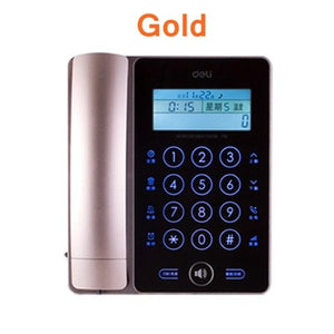 [ReadStar]Deli 778 Touch screen corded telephone home office backlight screen button caller ID temprature date time display