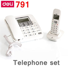 Load image into Gallery viewer, [ReadStar]Deli 791 Mother & son cordless telephone set office telephone alarm caller ID display records date time display