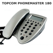 Load image into Gallery viewer, TOPCOM Phonemaster 180 with SIM Card access caller ID telephone corded Phonebook copy and view Export to Europe America