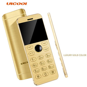 ULCOOL V16 Phone Super Mini Ultrathin Card Metal Body Bluetooth 2.0 Dialer MP3 1.54Inch Card Phone Telephone Cellphone