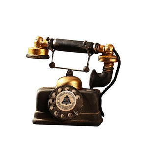 Vintage Style Old-fashioned Resin Artificial Telephone Model Retro Resin Home Decoration Accessories Figurines Miniatures Craft