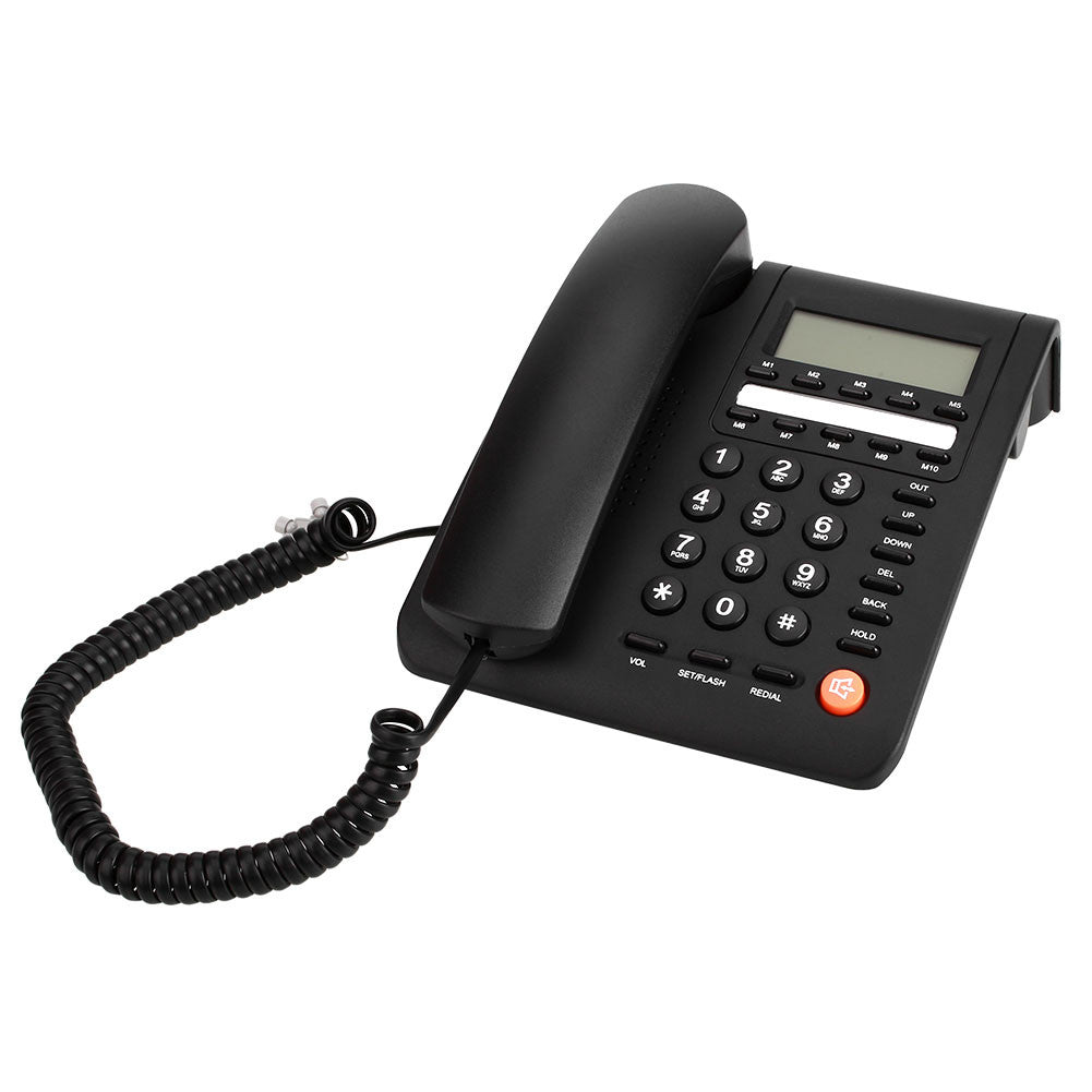 Fashion HF Key Offical Telephone Landline Large Display Corded Alarm Redial Corded Phone