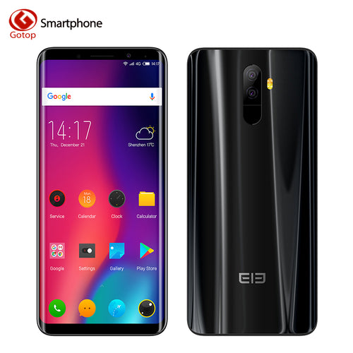 Elephone U Smartphone 4G Android 7.1 Face ID 5.99 inch 18:9 FHD Screen Mobile Phone MTK6763 Octa Core 6GB 128GB 13.0MP Cellphone