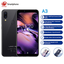 "Load image into Gallery viewer, UMIDIGI A3 Global Band 5.5""incell HD+display 2GB+16GB smartphone MT6739 Quad core Android 8.1 12MP+5MP Face Dual 4G Mobile phone"