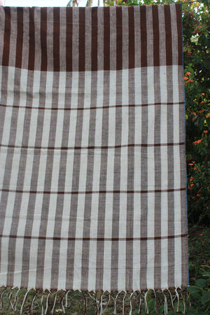 Natural dyed khadi saree