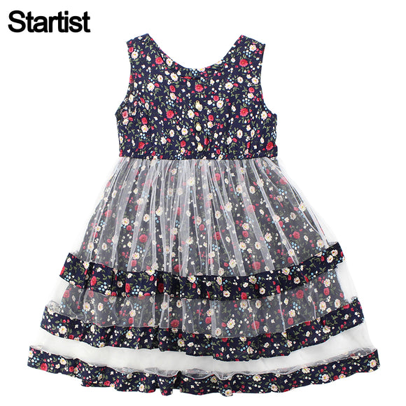 Startist Dresses For Girls Floral Girls Summer Dresses Sleeveless Casual Mesh Dress Girls Teenage Girls Clothes 6 8 10 12 Year