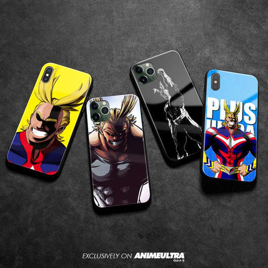 All Might Toshinori Yagi Soft Silicone Tempered Glass iPhone Cases ! - AnimeUltra