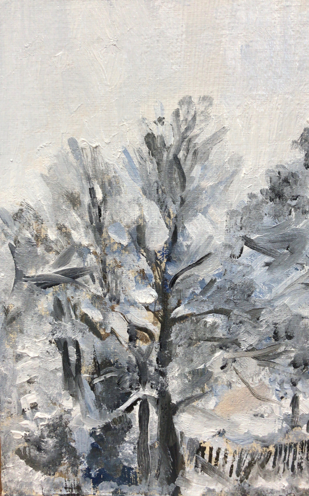 White on White, 18 x 13 cm, oil on canvas panel