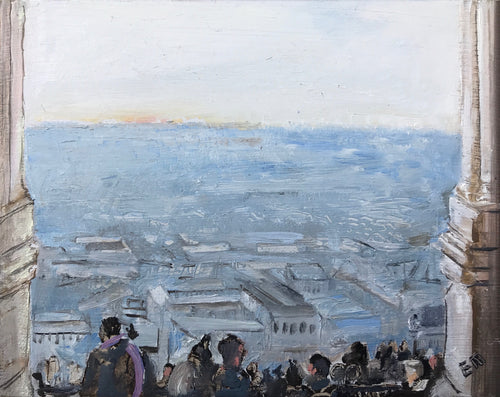 View from Sacre Couer II. 14 x 18 cm oil on board