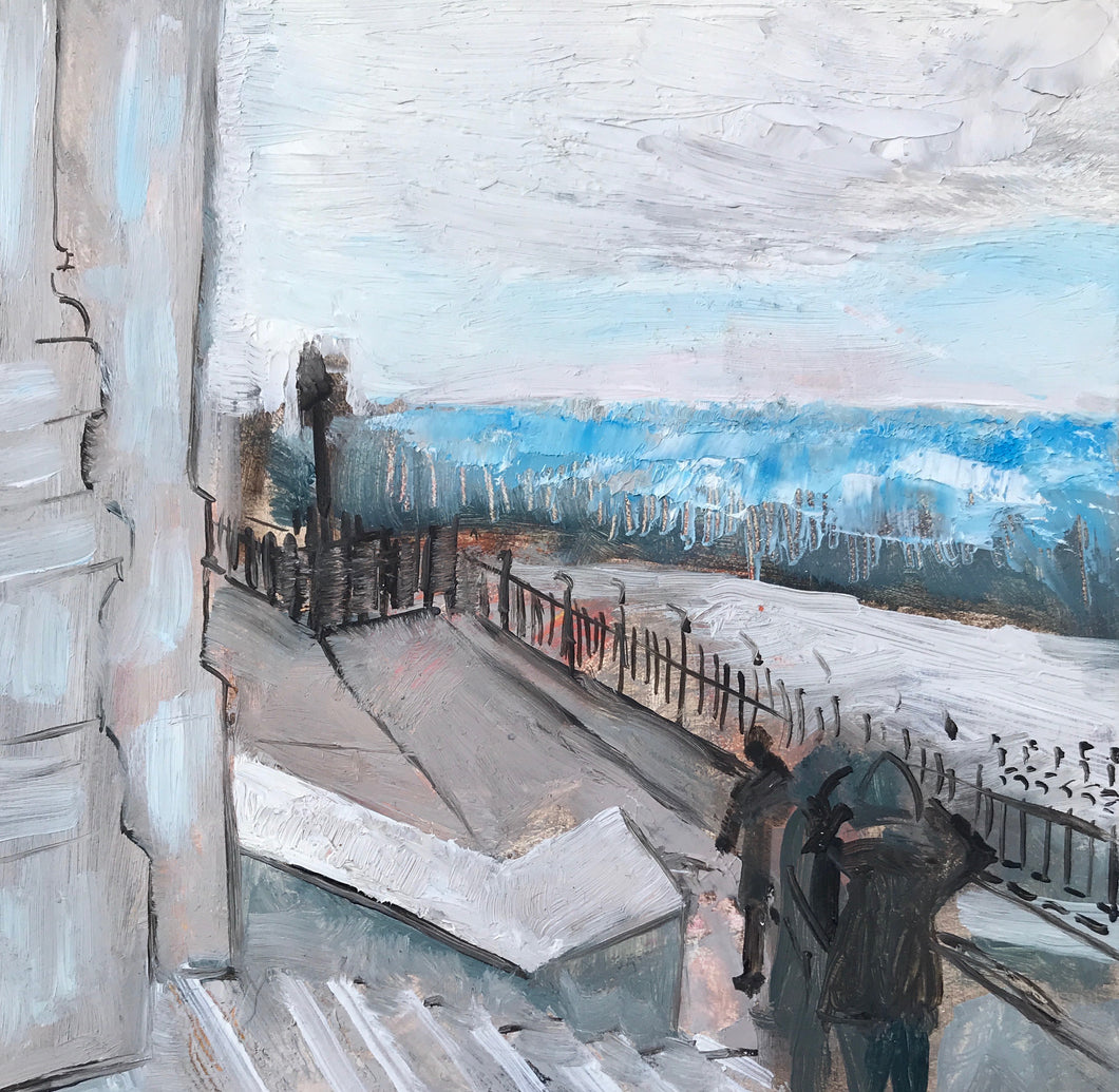 View from Sacre Couer I. 13 x 13 cm oil on board
