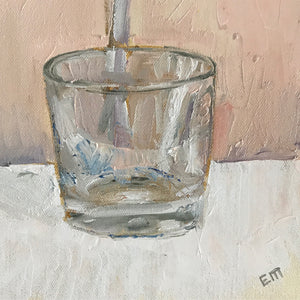 Glass Empty, 20 x 20 cm, Oil on Canvas