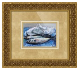 Three Fishes - Fine Art Print 24.5 x 34.5 in. Framed