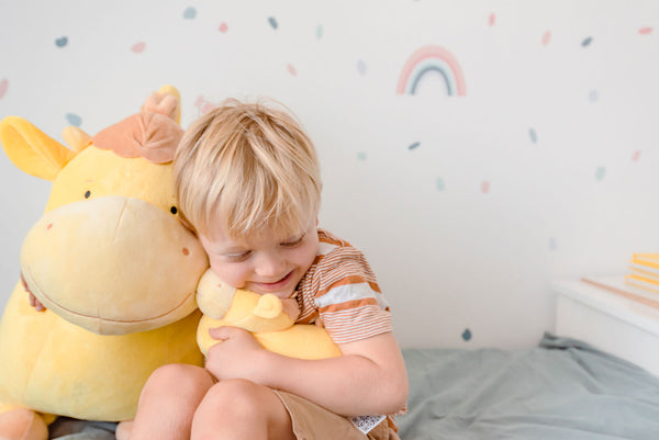 My youngest son loved snuggling with his very own little Yellow Cow!