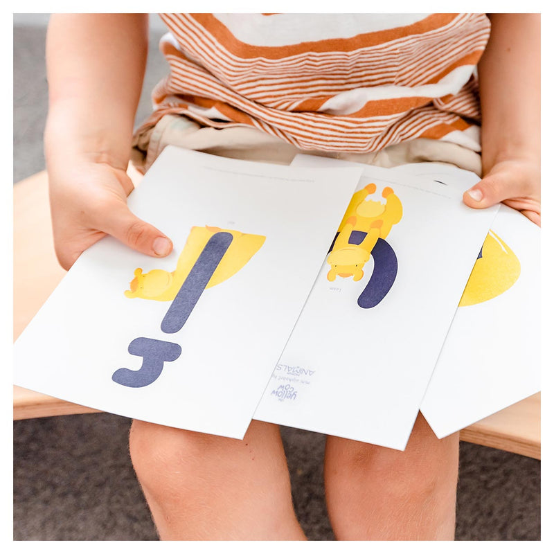 The Yellow Cow Mini Alphabet Cards