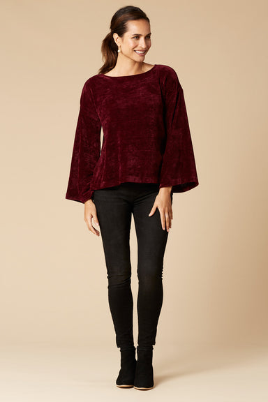 Savoy Bell Knit - Shiraz - eb&ive Clothing - Knit Jumper