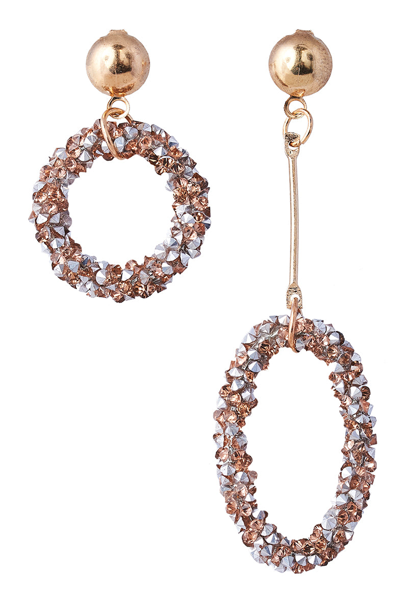 Chandon Glitter Earring - Camel Mix - eb&ive Earring