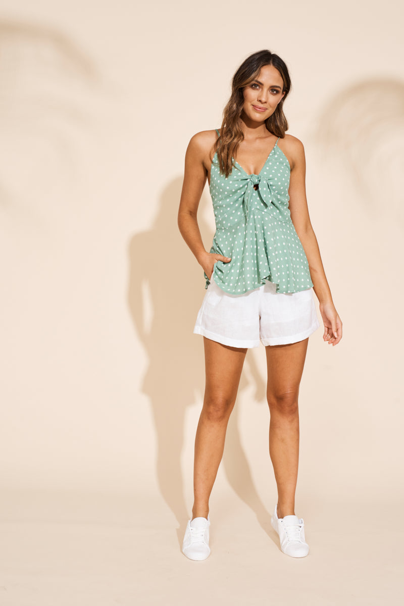 Zuma Top - Palm - eb&ive Clothing - Top Sleeveless