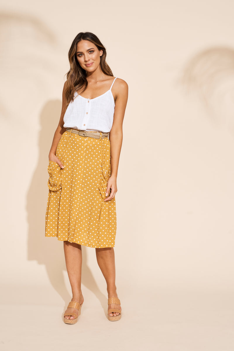 Zuma Skirt - Saffron - eb&ive Clothing - Skirt Mid