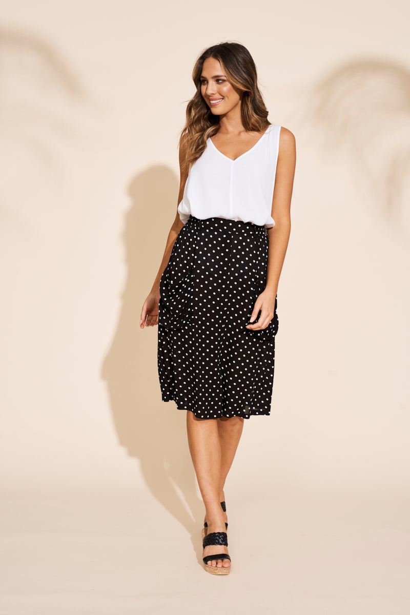 Zuma Skirt - Black - eb&ive Clothing - Skirt Mid