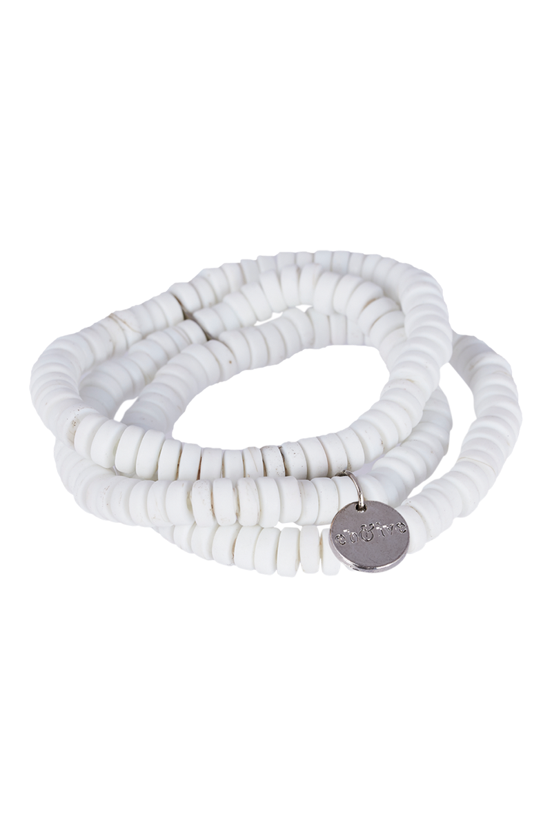 Sable Bracelet Set  - Salt - eb&ive BangleBar