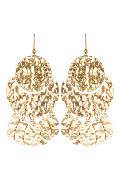 Kruger Disc Earring  - Gold - eb&ive Earring