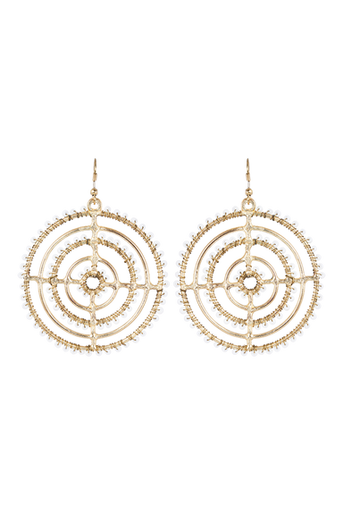 Tribal Circle Earring - Ivory - eb&ive Earring