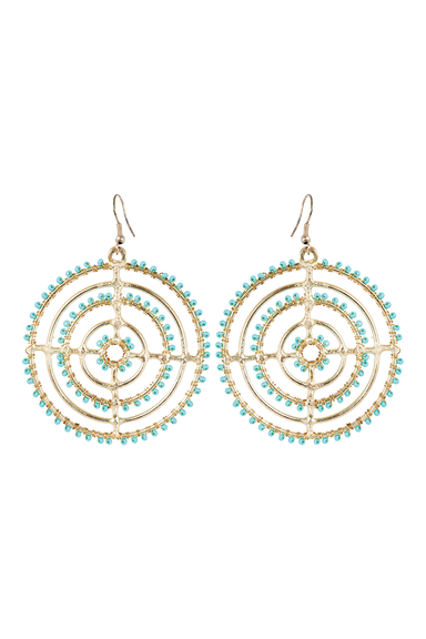 Tribal Circle Earring - Turquoise - eb&ive Earring