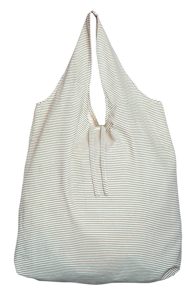Mana Eco Shopper - Khaki Stripe - eb&ive Bag