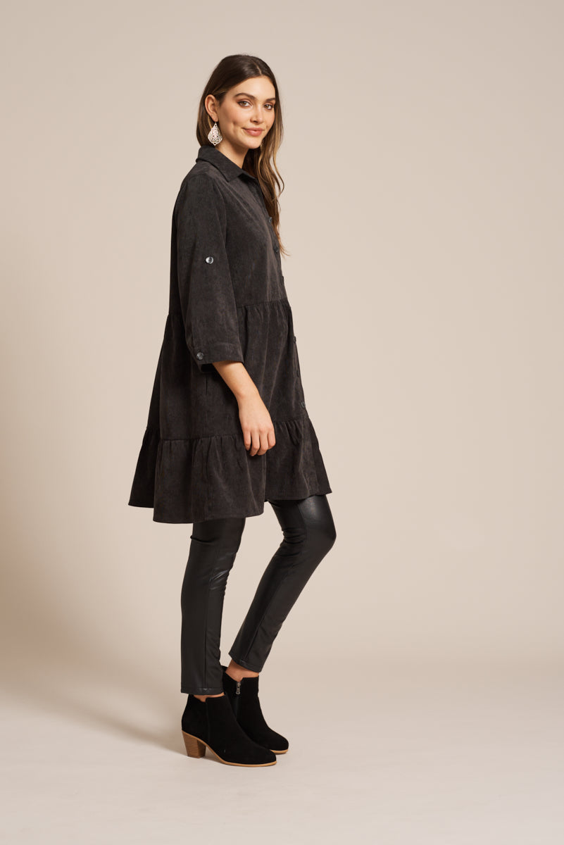 Florence Top / Dress - Onyx - eb&ive Clothing - Dress Mid