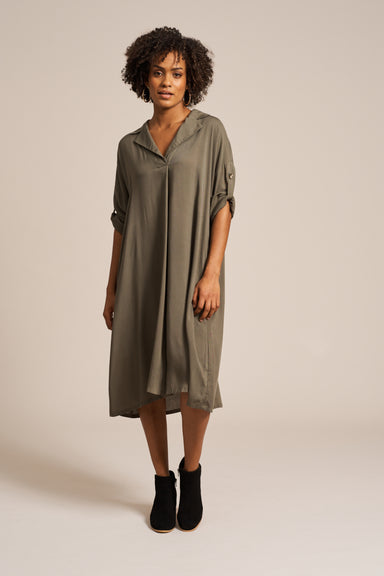 Marie Dress - Moss - eb&ive Clothing - Dress Mid