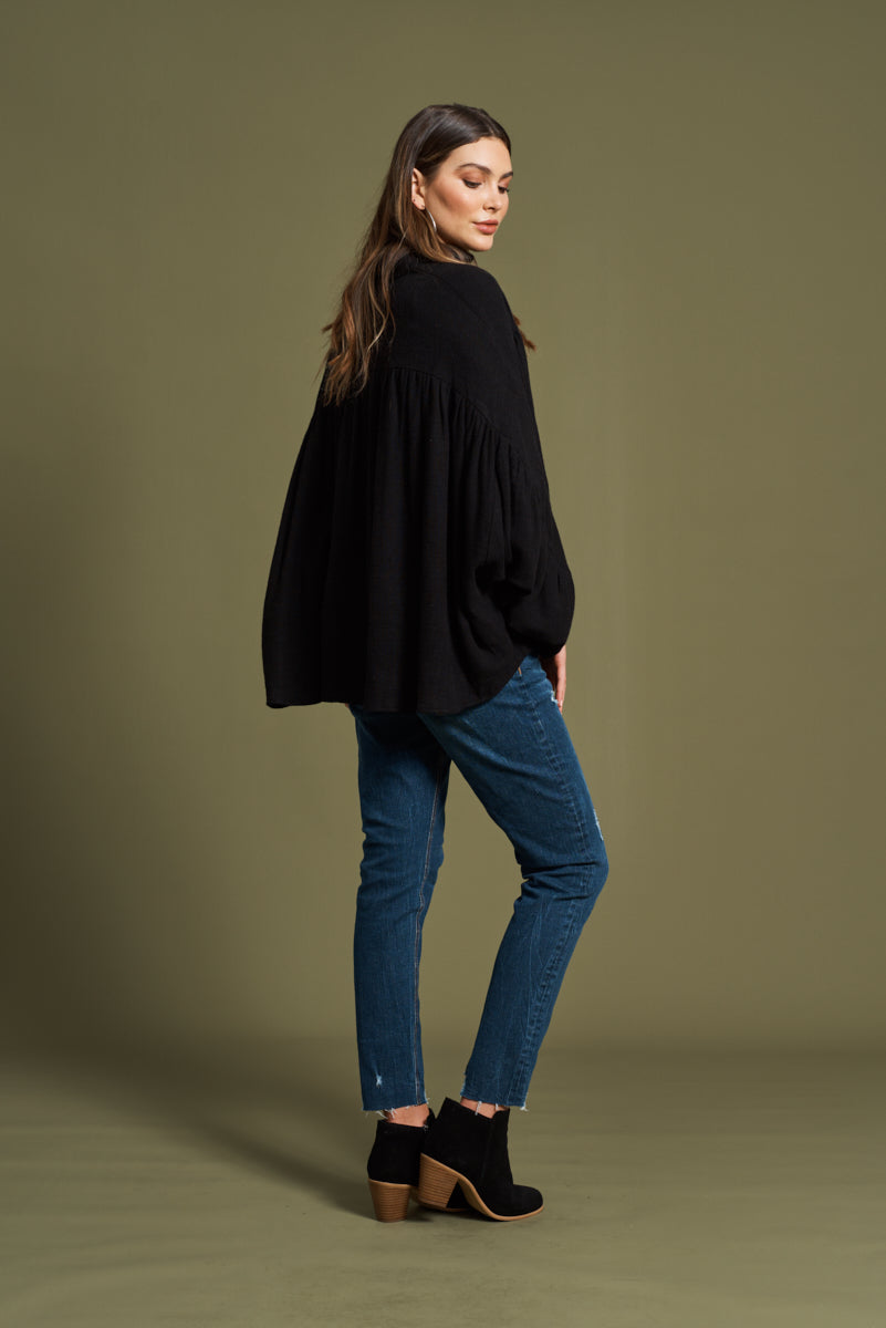 Frida Shirt - Onyx - eb&ive Clothing - Top L/S Oversize