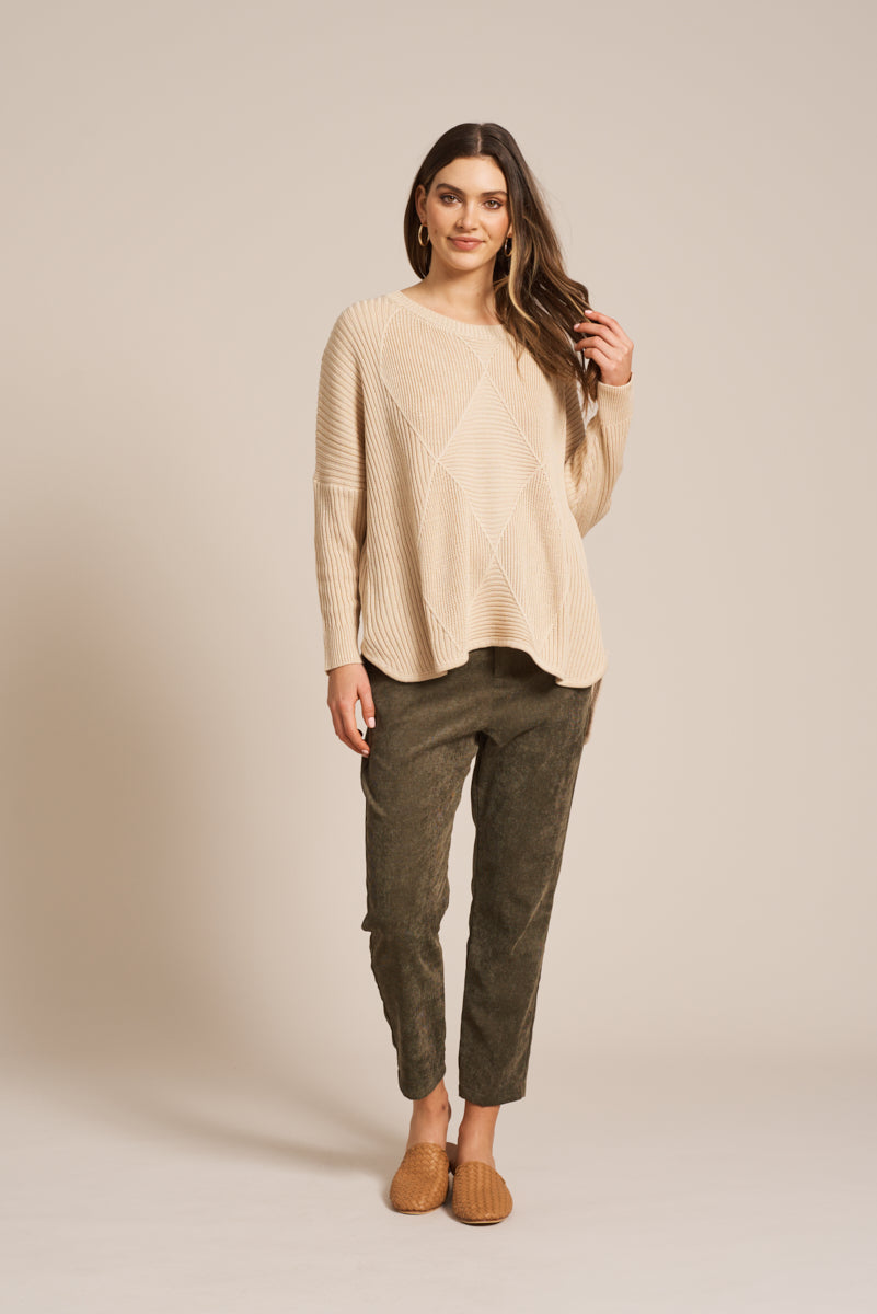 Indira Knit - Putty - eb&ive Clothing - Knit Jumper Oversize