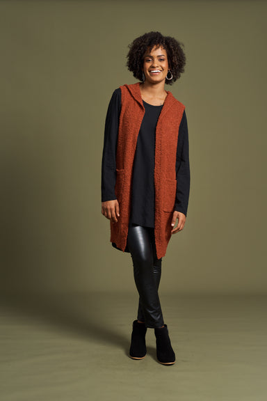 Mae Vest - Terracotta - eb&ive Clothing - Knit Vest