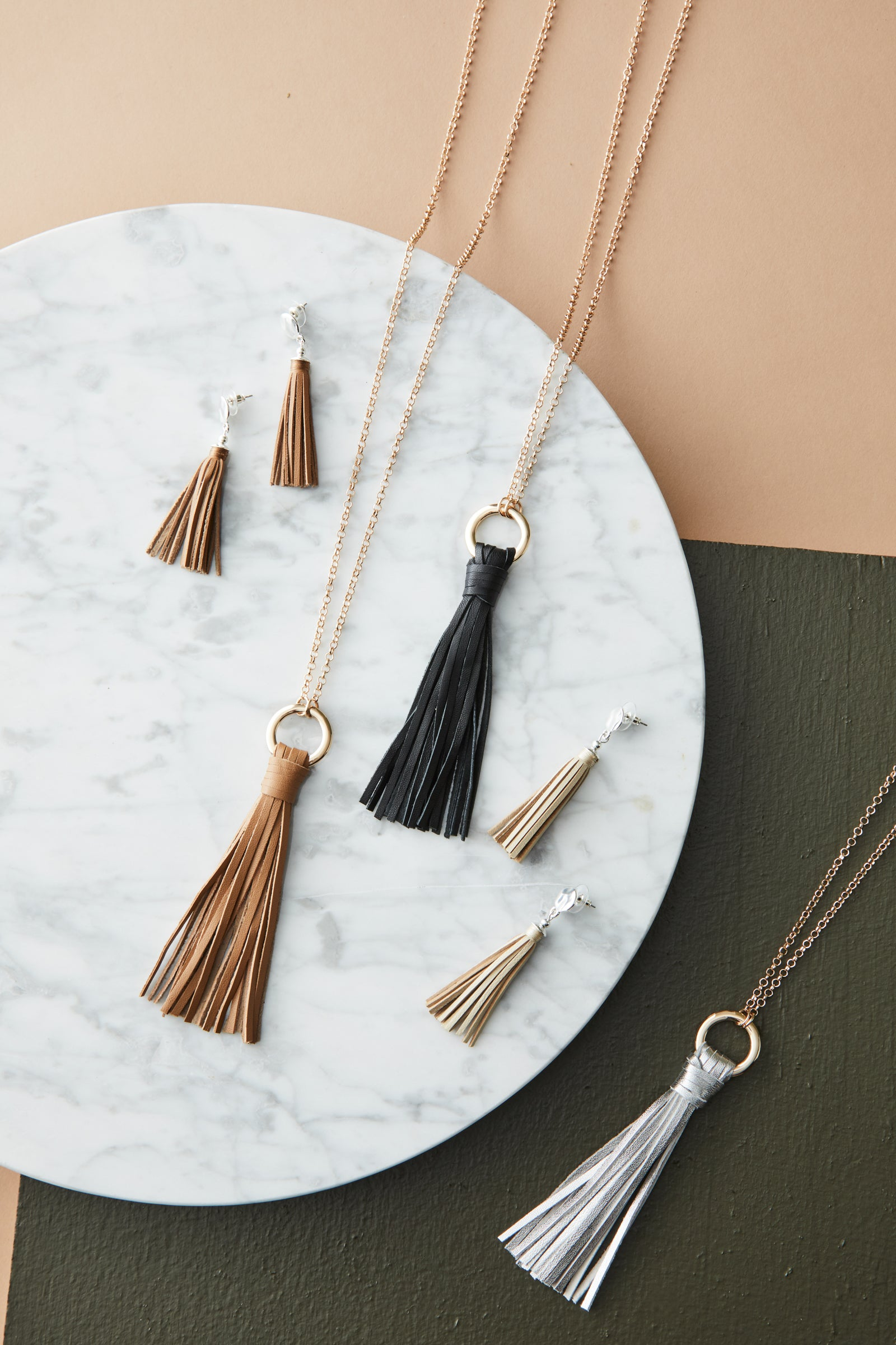 Ita Tassel  - Tan - eb&ive Necklace
