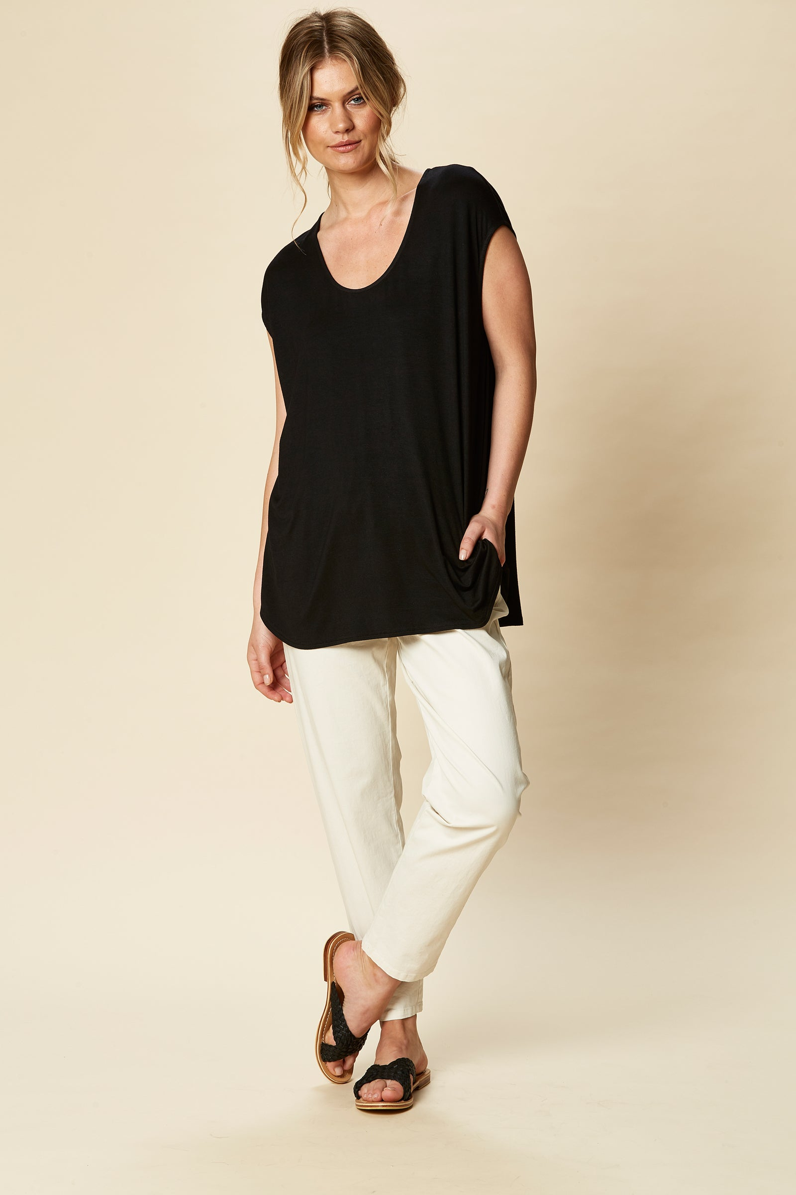 Sorella Top - Sable - eb&ive Clothing - Top Sleeveless