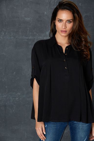 Getaway Shirt - Black - eb&ive Clothing - Shirt L/S One Size