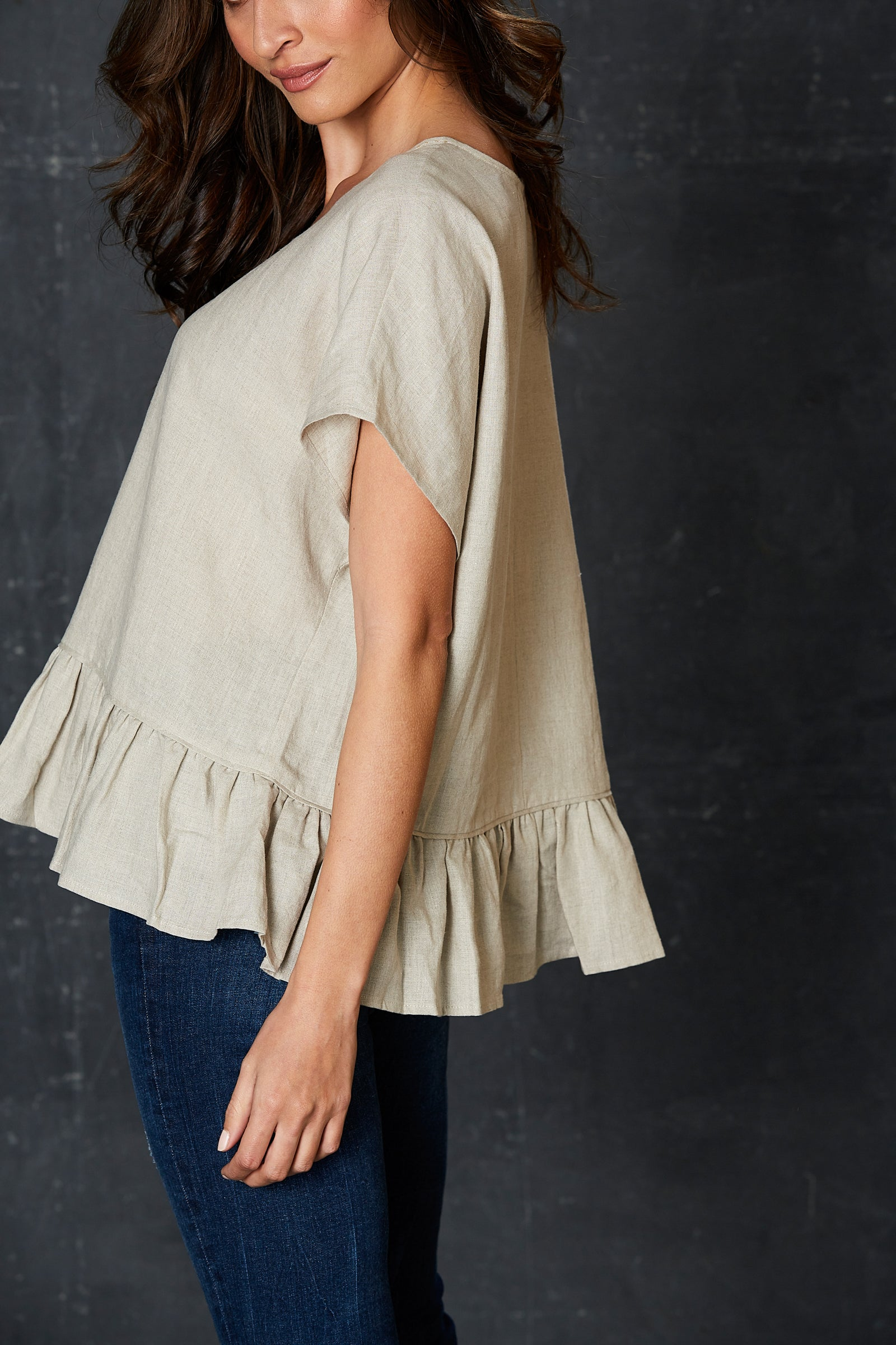 Bask Top - Flax - eb&ive Clothing - Top S/S Linen One Size