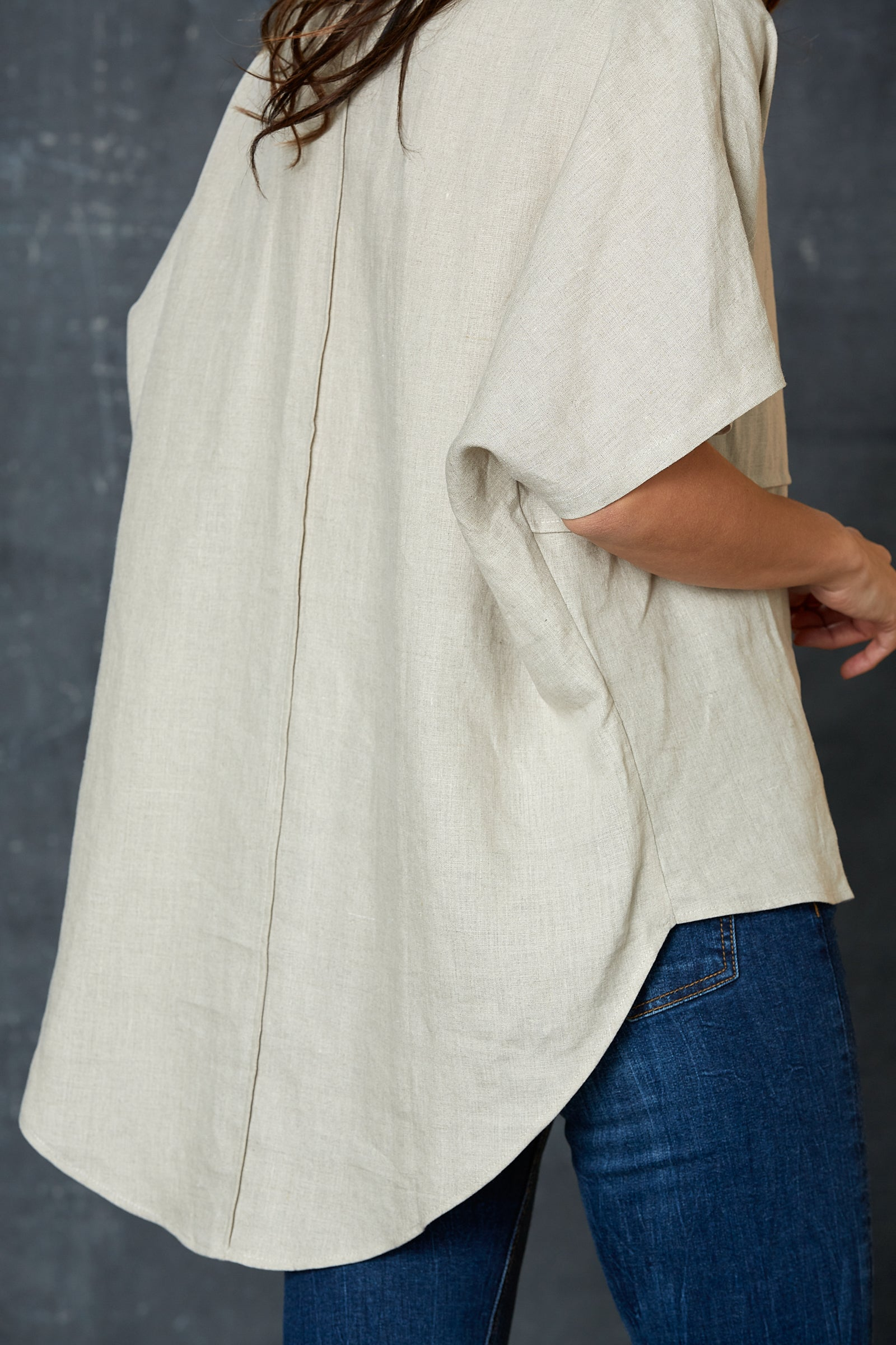 Bask Easy Top - Flax - eb&ive Clothing - Top S/S Linen One Size