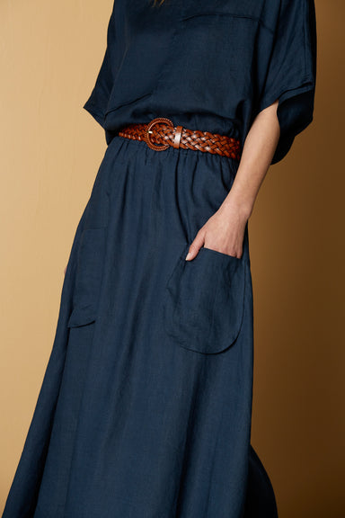 Bask Skirt - Admiral - eb&ive Clothing - Skirt Maxi Linen