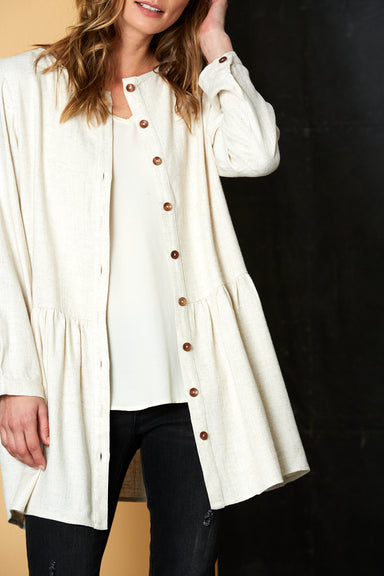 Calma Tunic / Jacket - Wheat - eb&ive Clothing - Top Dress Oversize