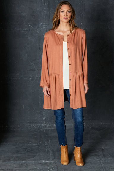 Calma Tunic / Jacket - Henna - eb&ive Clothing - Top Dress Oversize